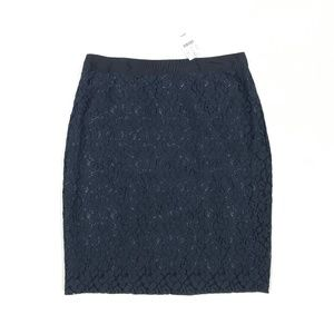 J Crew Factory Pencil Skirt in Floral Lace 3447